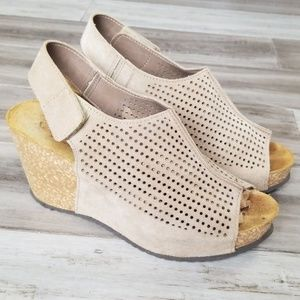 A. Giannetti Wedge Sandals